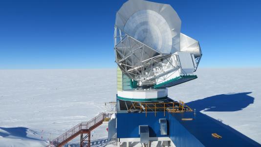 Large telescope, blue sky background. (Image by Argonne National Laboratory.)