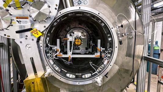 Tunnel view inside machinery. (Image byArgonne National Laboratory.)
