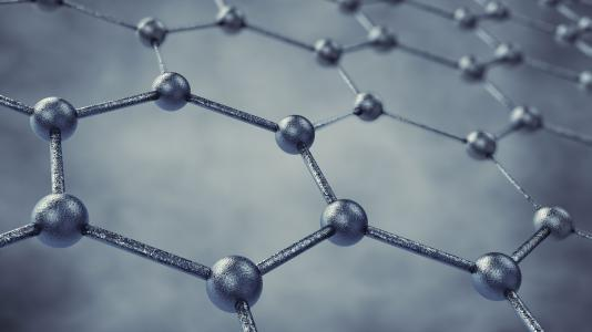 Graphene's hexagonal structure makes it an excellent lubricant.