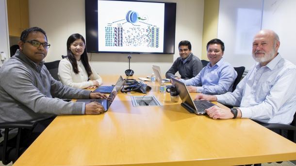 Argonne team members  Rajeev Assary, Cong Liu, Badri Narayanan, Anh Ngo and Larry Curtiss.