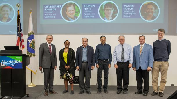 Paul Kearns (Director of Argonne National Laboratory), Valerie Taylor, Esen Ecran Alp, Salman Habib, Robert Hill, Christopher Johnson, Stephen Pratt