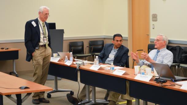 George Crabtree and Venkat Srinivasan chat with 2019 Nobel laureate John Goodenough