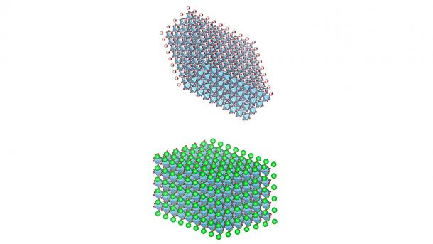Argonne scientists have looked at the local ferroelectric properties of the bottom atomic layers of freestanding complex oxide PZT detached from the epitaxial substrate. (Image by Argonne National Laboratory.)