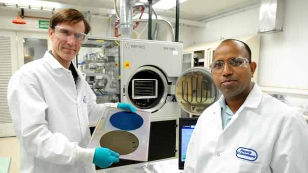 Argonne chemists Jeff Elam and Anil Mane