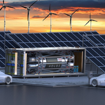Micro-reactor concepts like this one from the company HolosGen could be used in a variety of settings to provide emissions-free power. (Image courtesy HolosGen.)